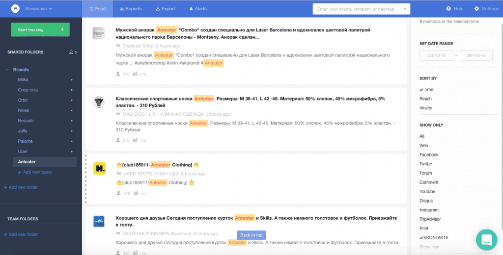 VKontakte Mediatoolkit social network monitoring