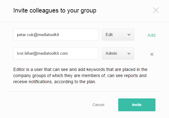 Invite colleagues to your group