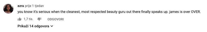 youtube comment screenshot tati westbrook